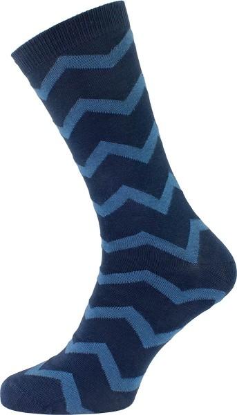 Socken aus Bio-Baumwolle - dunkelblau-denimblau gemustert