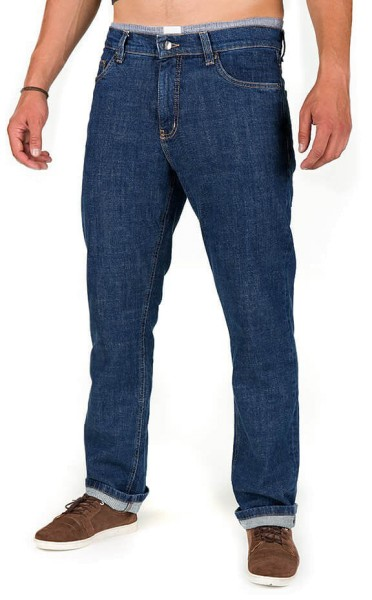 Organic Cotton Jeans - Classic Fit - stone washed