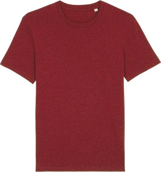 T-Shirt aus Bio-Baumwolle - heather neppy burgundy