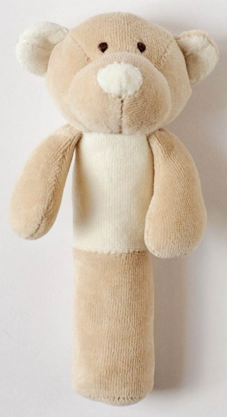 Teddy mit Rassel - Bio-Baumwolle - Bild 1