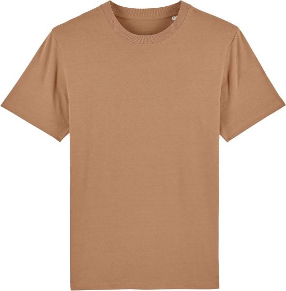 T-Shirt aus schwerem Stoff aus Bio-Baumwolle - camel