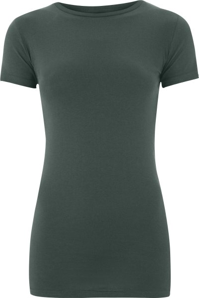 Organic Slim-Fit T-Shirt dark grey - Bild 1