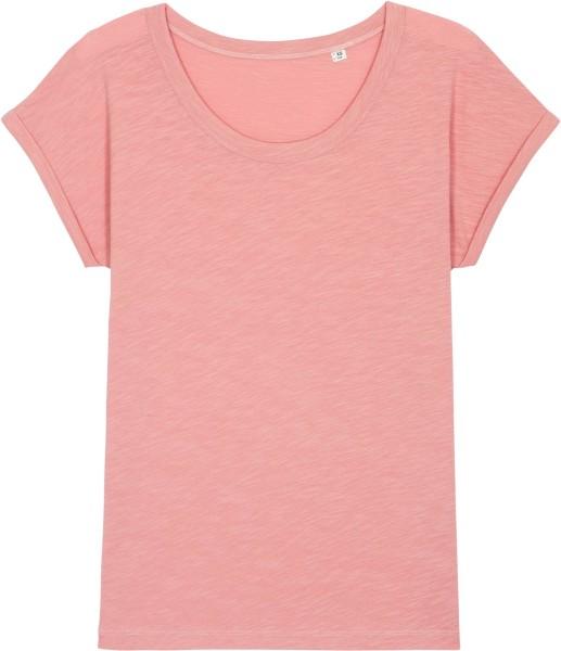 Slub T-Shirt aus Bio-Baumwolle - canyon pink