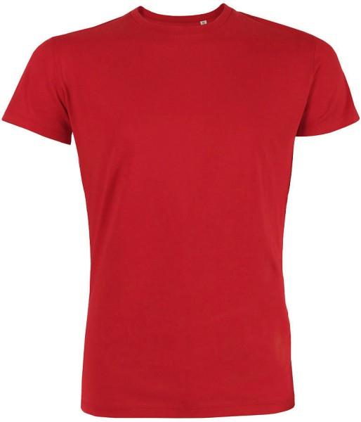 Leads - Kurzarmshirt aus Bio-Baumwolle - rot