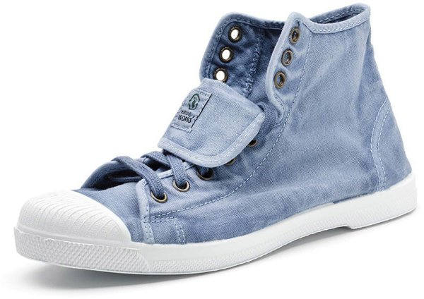 Bota Sport Enzimatico - Hohe Sneakers Bio-Baumwolle - celeste - Bild 1