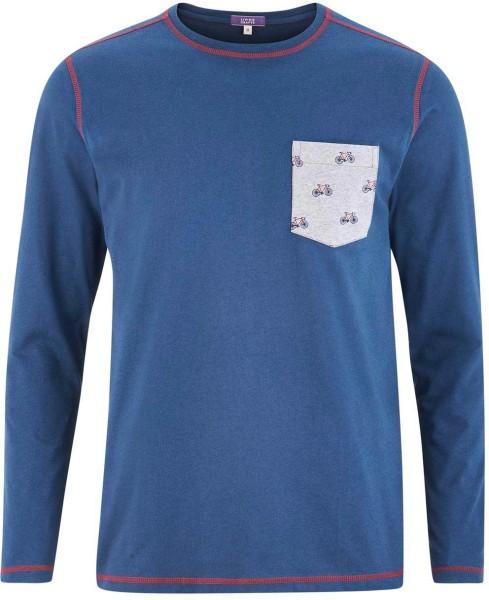 Schlaf-Shirt aus Bio-Baumwolle – mid blue