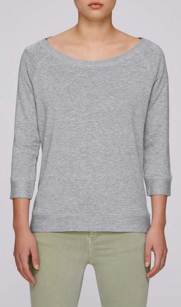 Amazes - Sweater aus Biobaumwolle - grau meliert - Bild 1