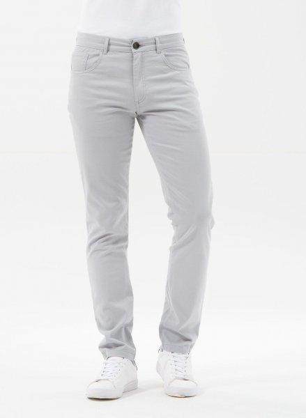 Tight Fit 5-Pocket-Hose aus Bio-Baumwolle - grey