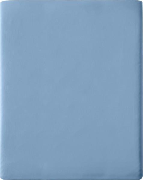 Satin-Spannbetttuch aus Bio-Baumwolle 160x200cm - blue shadow