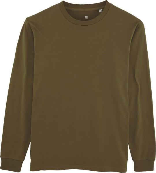 Langarmshirt aus Bio-Baumwolle - british khaki