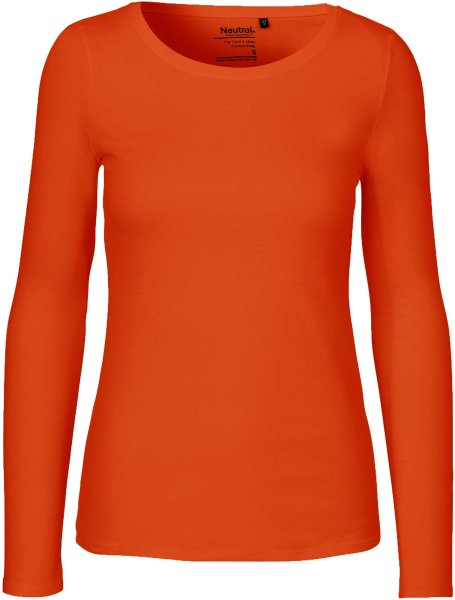 Longsleeve aus Fairtrade Bio-Baumwolle - orange