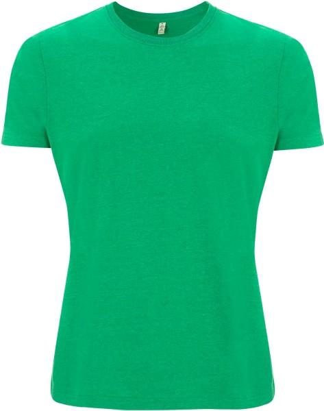 Recycled T-Shirt aus Baumwolle und Polyester - melange green