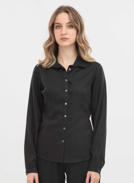 Bluse aus Tencel - black