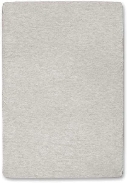 Spannbettuch aus Bio-Baumwolle - beige-meliert - 140 x 200 cm