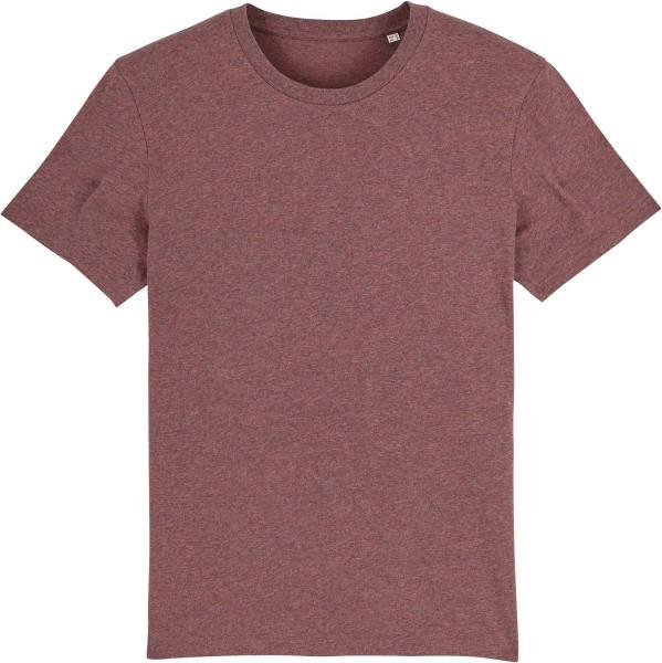 T-Shirt aus Bio-Baumwolle - black heather cranberry