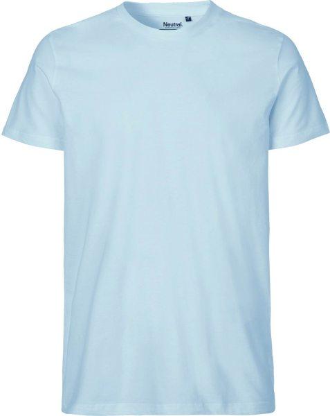 Fitted T-Shirt aus Fairtrade Bio-Baumwolle - light blue