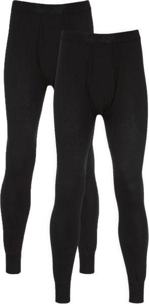 Lange Unterhose aus Baumwolle - Doppelpack - schwarz