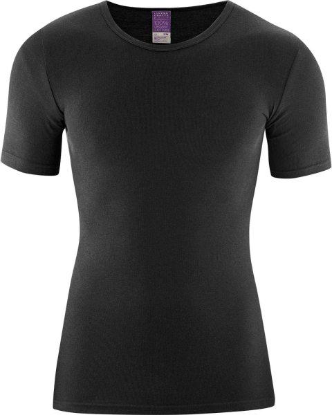 1/4 Arm Unterhemd - Biobaumwolle schwarz - Bild 1
