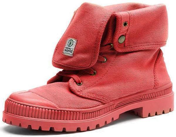 Bota Alta Suela Al Tono - Schuhe aus Bio-Baumwolle - fresa - Bild 1