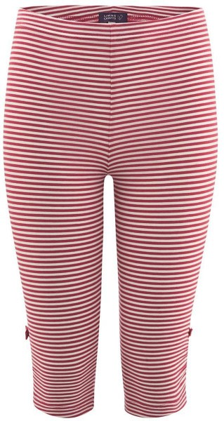 Kinder 3/4-Leggings Bio-Baumwolle – poppy/white
