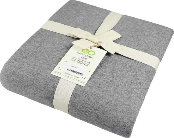 Bettdeckenbezug aus Bio-Baumwolle - grau-meliert