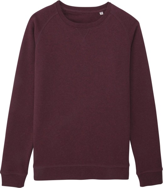 Sweatshirt aus Bio-Baumwolle - heather grape red