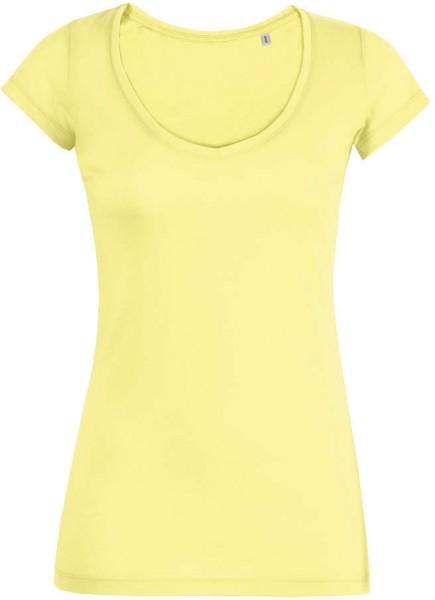 Smiles - V-Neck T-Shirt Bio-Baumwolle - iris yellow - Bild 1