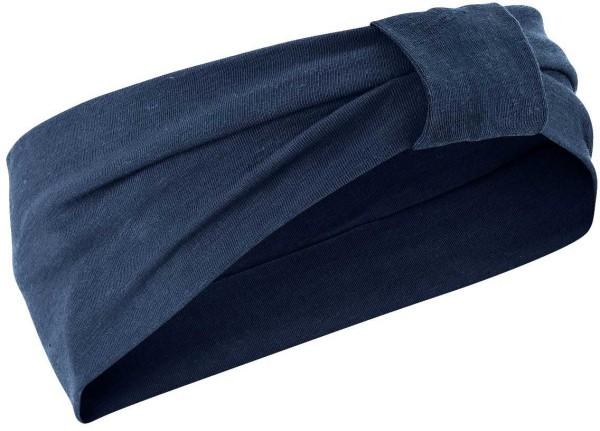 Jersey-Stirnband aus Bio-Baumwolle und Hanf - navy