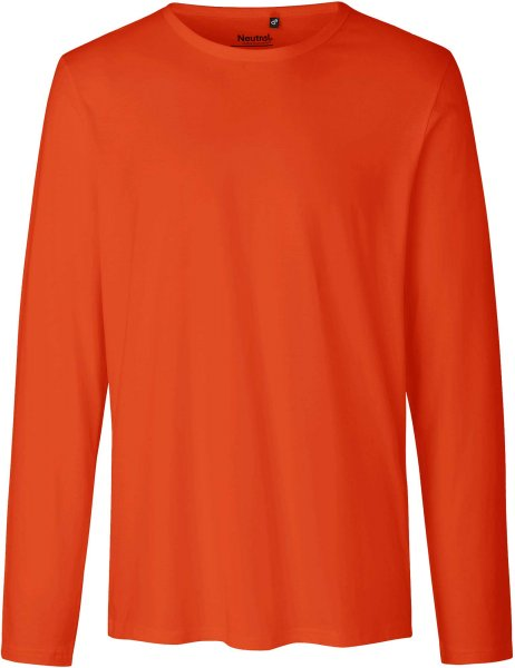 Longsleeve aus Fairtrade Bio-Baumwolle - orange