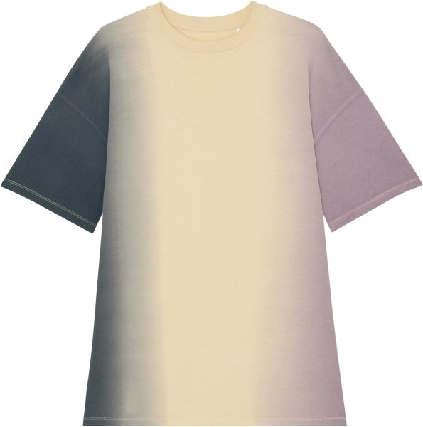 Oversized Jersey-Kleid aus Biobaumwolle - dip dye lilac petal/barley