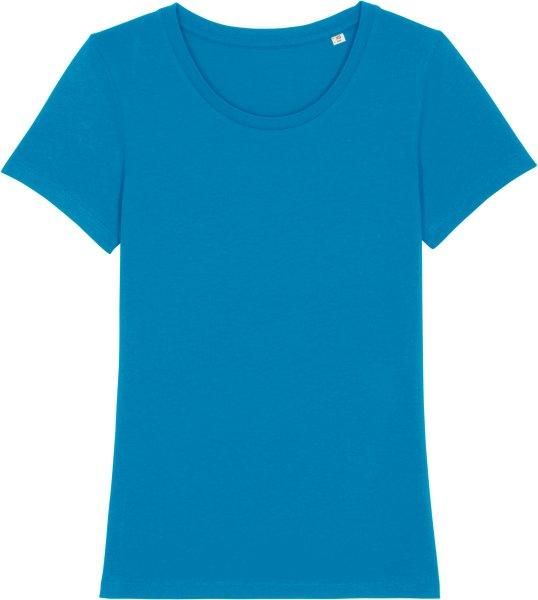 T-Shirt aus Bio-Baumwolle - azur