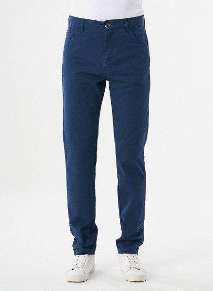 Regular Fit 5-Pocket-Hose aus Bio-Baumwolle - navy