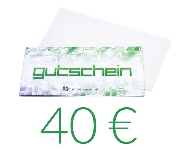 40,- EUR Geschenkgutschein - neutrales Design - Bild 1