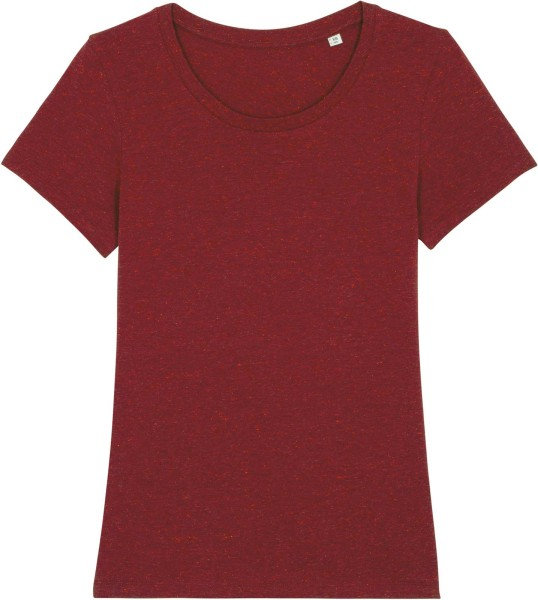 T-Shirt aus Bio-Baumwolle - heather neppy burgundy