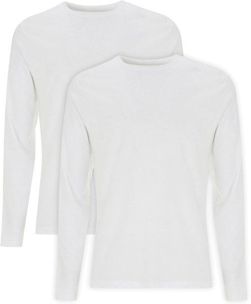 Organic Longsleeve - Doppelpack - white