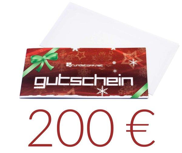 200,- EUR Geschenkgutschein - Weihnachtsdesign