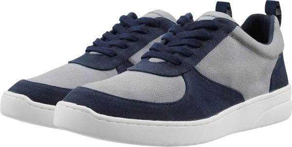 Damen Fairtrade Sneaker aus Bio-Baumwolle - blau-grau