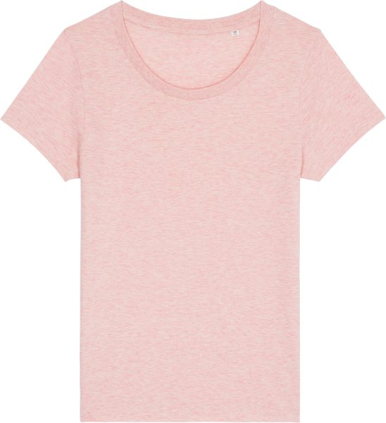 Basic T-Shirt aus Bio-Baumwolle - cream heather pink
