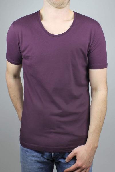 Scooped Neck T-Shirt eggplant - Bild 1