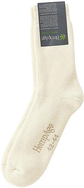 Dicke Plüsch-Socken aus Hanf und Biobaumwolle natur - Bild 1