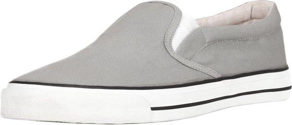hellgrauer Bio-Slipper, Freizeit Schuhe aus 100% Biobaumwolle
