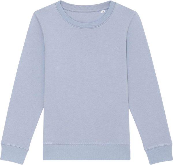 Kinder Sweatshirt aus Bio-Baumwolle - serene blue