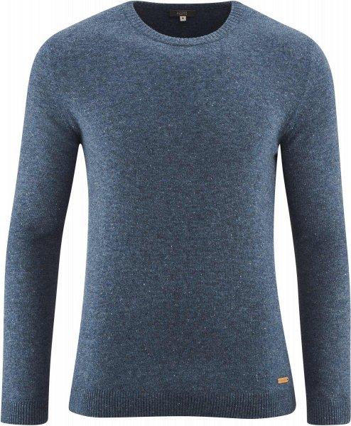 Strickpullover aus Bio-Wolle - mid blue