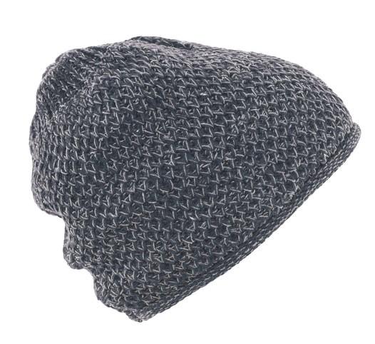 HempAge - Wintermütze grober Strick - graphit grey