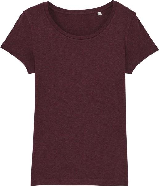 Jersey-Shirt aus Bio-Baumwolle - heather grabe red