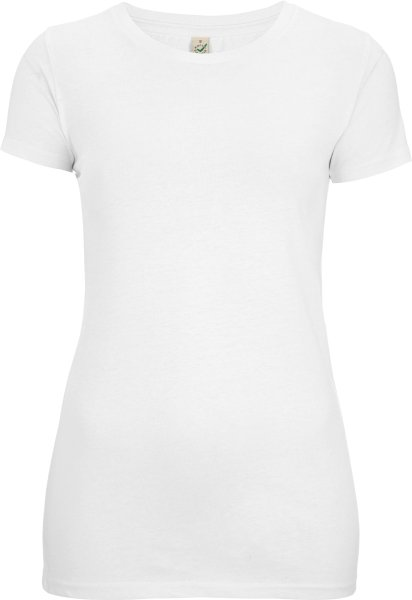 Organic Slim-Fit T-Shirt weiss