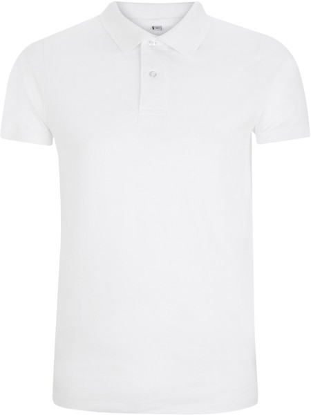Urban Brushed Jersey Polo Shirt - weiss - Bild 1