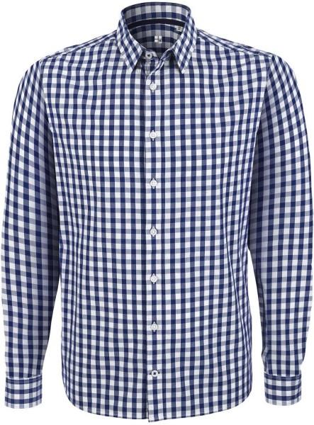 Impresses - Hemd aus Biobaumwolle - white-blue check (kariert)