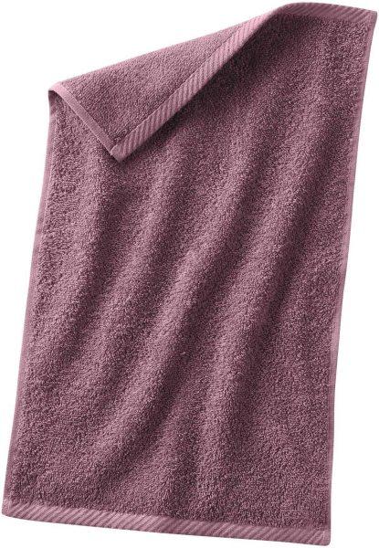 Gäste-Handtuch aus Bio-Baumwolle 30x50 cm - light plum