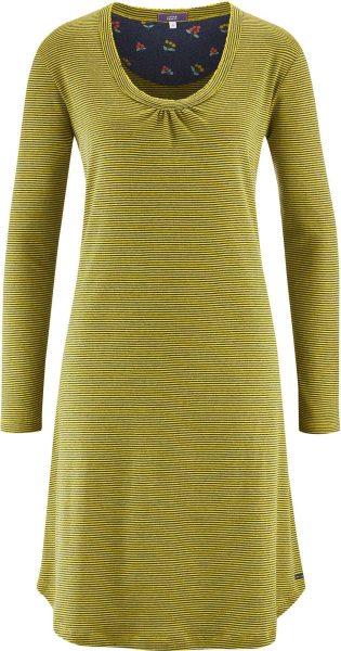 Nachthemd aus Bio-Baumwolle - navy/brass